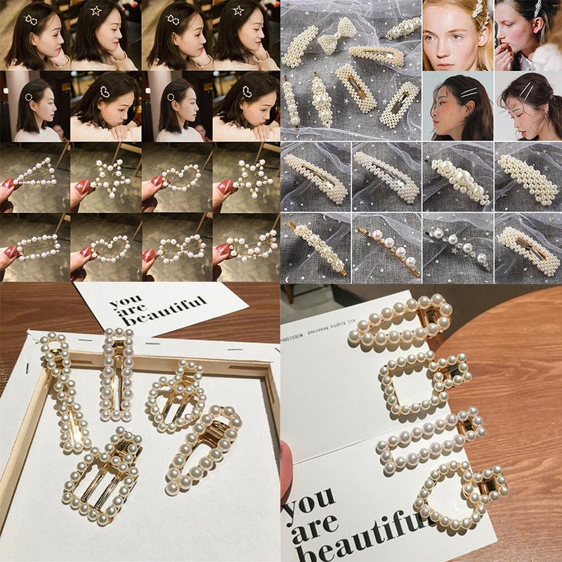2e1c9015e609e Womens Girls Pearl Hair Clip Gold Hairpin Slide Grips Barrette Stick Hair  Accessories Styling Tools Fashion Hair Pieces Ladies Hair Accessories From  Kennady ...