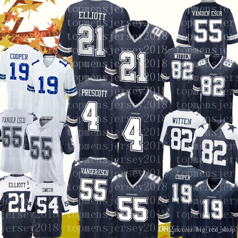 lower price with dd978 deece 21 Ezekiel Elliott 4 Dak Prescott Dallas Cowboys jersey 55 Leighton Vander  Esch 82 Jason Witte 19 Amari Cooper 54 Jaylon Smith Jerseys