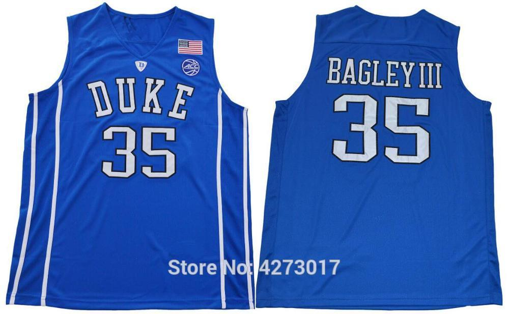 8e42646c87e 2019 Mens 2018 Duke Blue Devils 35 Marvin Bagley III College Basketball  Jerseys Mens Blue Black Bagley III Stitched Shirts NCAA From Hytopjersey
