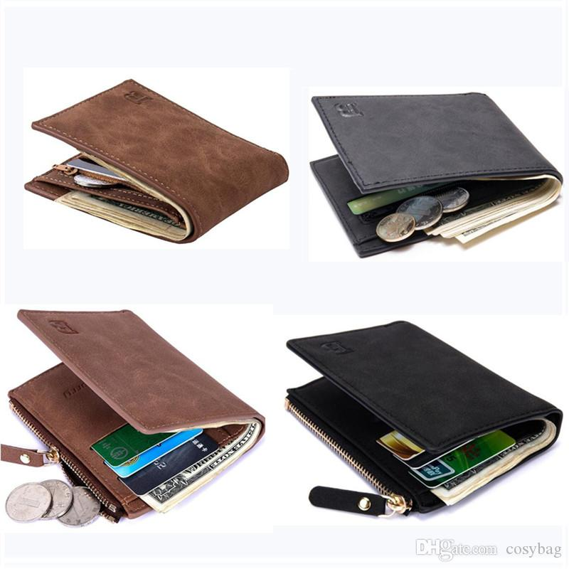 a12bc7a02dec Fashion Men Wallets Mens Small Wallet Men Money Purse Coin Bag Zipper Short  Male Wallet Card Holder New Design Dollar Slim Purse B0374 Hobo Wallets On  Sale ...