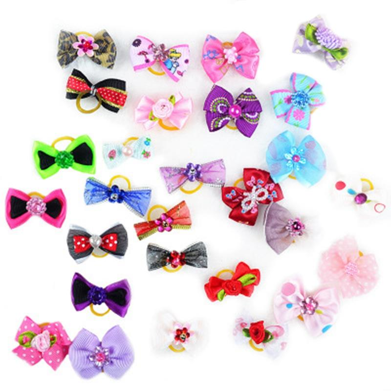 IALJ Top Kimpets Pet Bow Haarnadel Schmuck Hundebedarf Haarnadel Super Cute Head Flower Dog Kopfschmuck Teddy Rubber Band