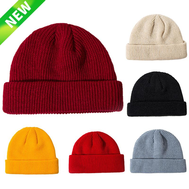 67e89206 2019 Winter Unisex Black Grey Red Solid Color Rib Knitted Beanies Hats For Woman  Mens Ladies Casual Cap Kids Girls Boys From Jumeiluo, $33.4   DHgate.Com