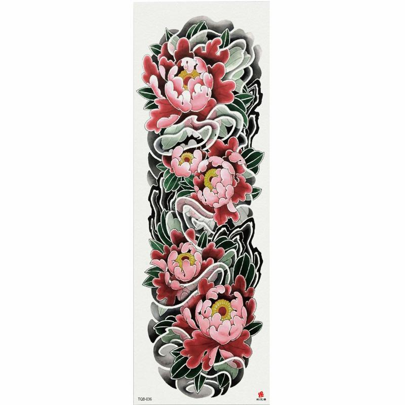 0533a385e Sea Of Vibrant Pink Lotus Temporary Tattoo Sticker With Arm Body Art Big  Sleeve Large Fake Tattoo Sticker Temporary Tattoos Instructions Temporary  Tattoos ...