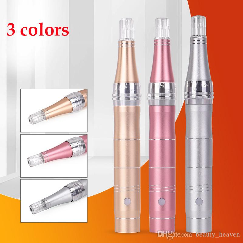 Electric Derma Pen Wireless Skin Care Device Micro Needles Gun Dr Pen Mesotherapy Face Makeup Derma Roller System