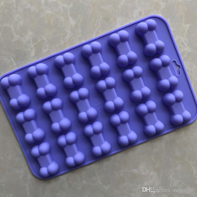 18 cavity dog treats bones silicone mold mini bone shape silicone ice cube trays silicone bone pet cookies molds