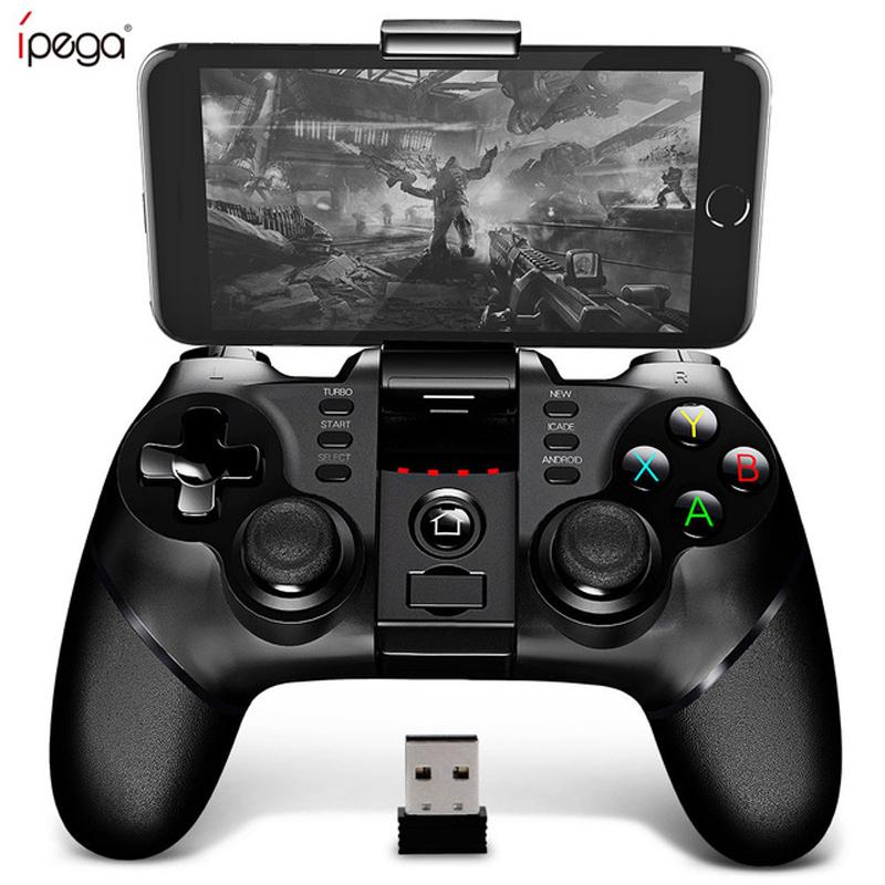 PG-9076 Bluetooth Gamepad Game Pad Controller Mobile Trigger Joystick For  Android Cell Phone PC Hand Free Fire
