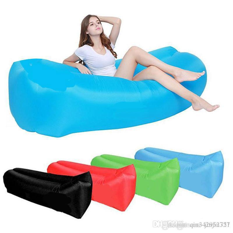 Vente chaude gonflable extérieure Lazy Couch Air Sleeping Bag Sofa Lounger Camping plage Lit Beanbag Canapé Chaise