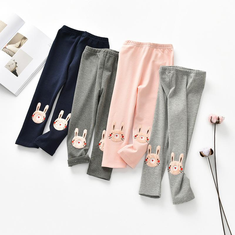 3-8 Years Old Girls Leggings Spring Autumn Children Pants Clothes Rabbit Princess Legging Trousers Skinny Pants For Baby Girls