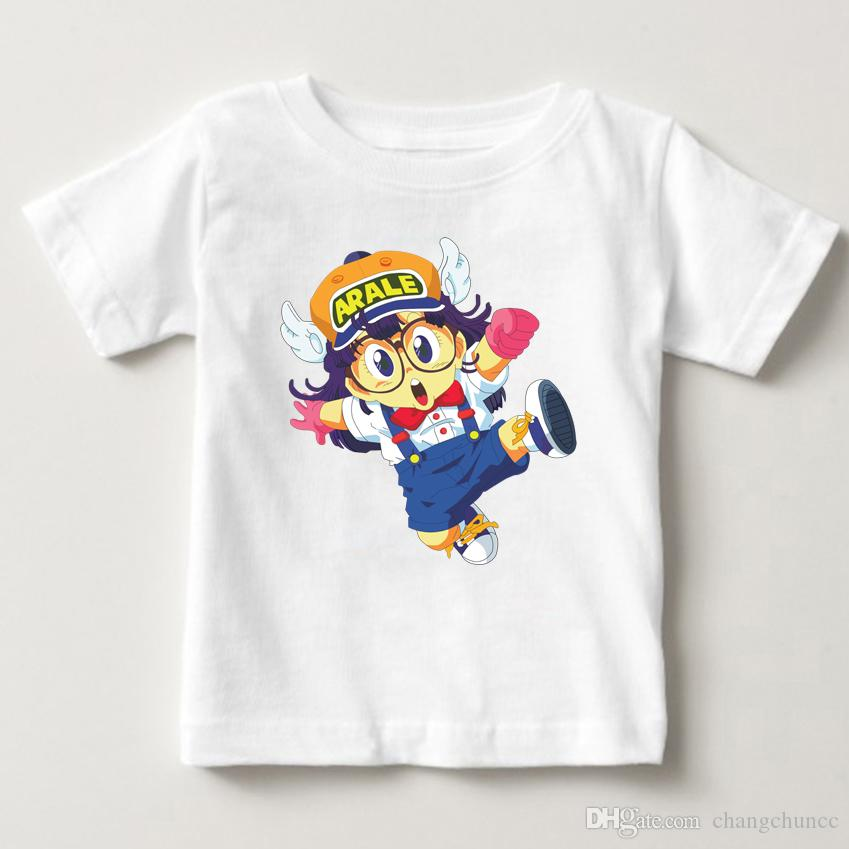 8d34eb107 Anime japonés impreso verano estilo fresco personalizado Tops camisetas  niños niñas camiseta Jersey niños camiseta de dibujos animados de moda ...