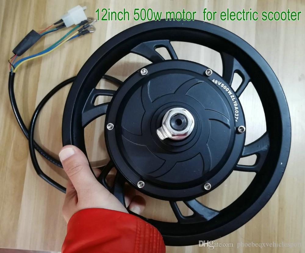 12inch 36v48v500w gearless motor with hallsensor disc/drum brake electric  bike scooter MTB tricycle mobility ATV motorcycle part