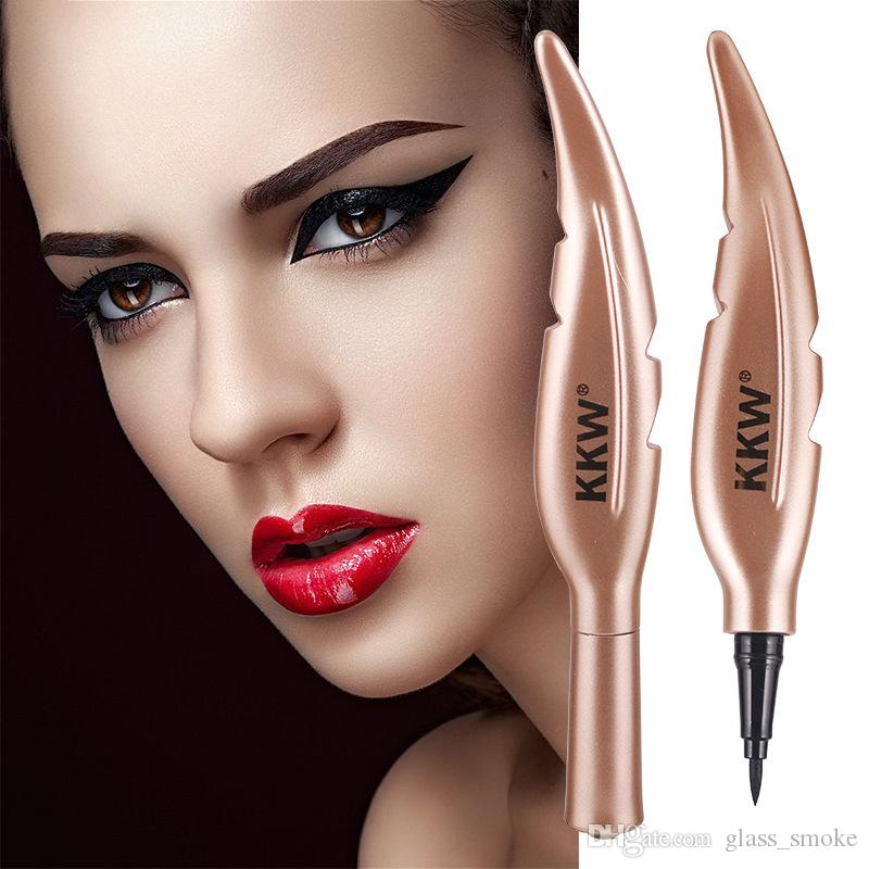 Brand Black Quick Dry Liquid Eyeliner Pen Feather Shape Cute Long lasting Waterproof Eye Liner Pencil Eyes Makeup Cosmetics Stick