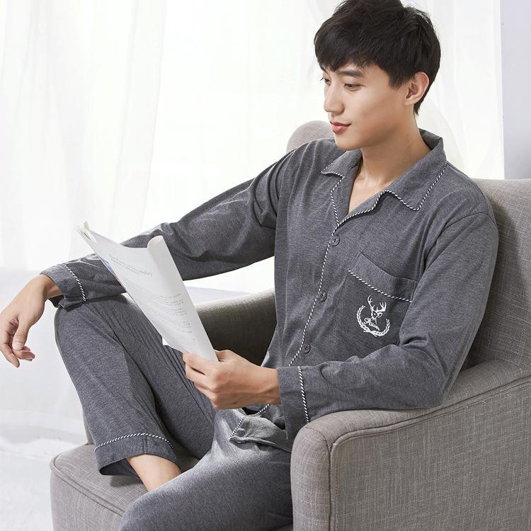 d51e3621579b7 Satın Al Sonbahar Ve Kış Erkek Pijama Kore Pijama Adam Gevşek Pamuk Hırka  Erkek Gecelik Giyim, $32.07 | DHgate.Com'da