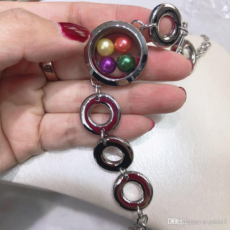 info for e1ac3 8dcb3 Nuovi bracciali con medaglioni in acciaio inox Fit 6-8mm Perle senza  perline Perle per gioielli fai da te