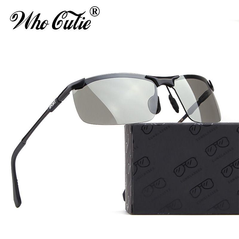 9e9c42574c8f5 Compre 2019 Retangular Óculos De Sol Óculos Polarizados Homens Marca Design Masculino  Óculos De Sol Esporte Condução Máscaras Amarelo Óculos De Visão ...