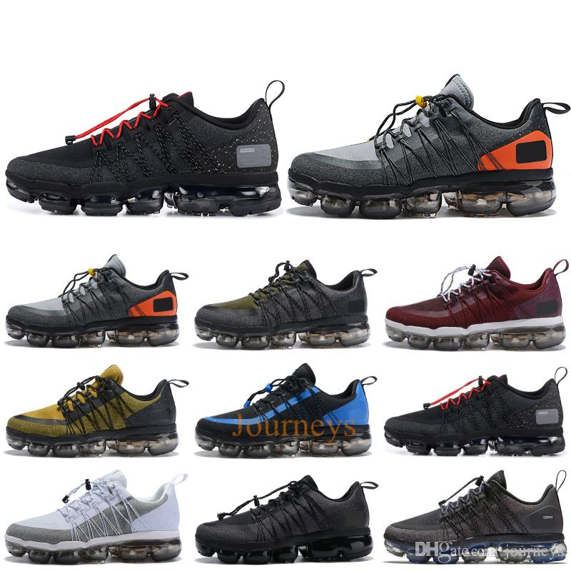 5acd6cdfe5ca 2019 2019 Run Utility Men Running Shoes Anthracite Medium Olive Black  Reflect Silver Designer Sneakers Sport Shoes Trainers 40 45 From Journeys
