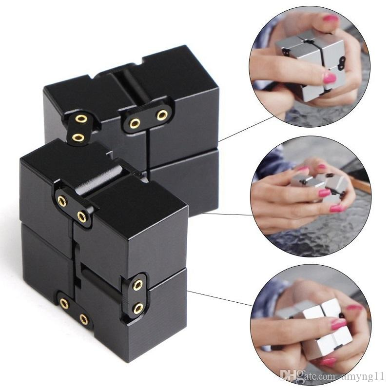 Infinity Cube Mini Fidget Toy Finger EDC Anxiety Stress Relief Magic Cube Blocks Adult Children Kids cure anxiety Reduced pressure toy