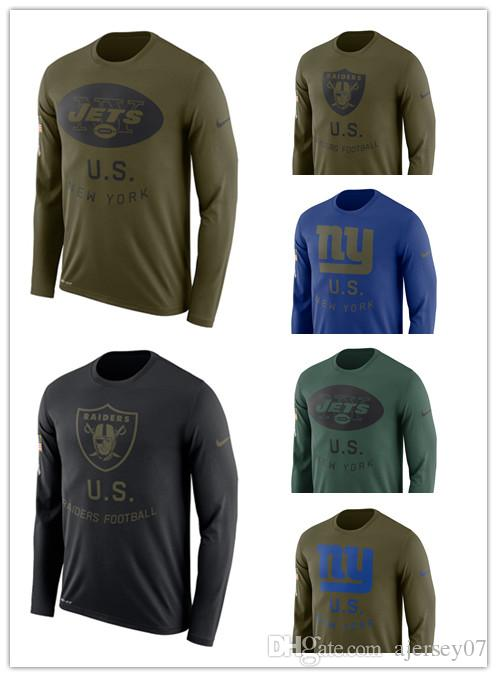 info for e4656 9fe52 2019 Men hot Raiders Giants Jets Salute to Service Sideline Legend  Performance Long Sleeve T-Shirt