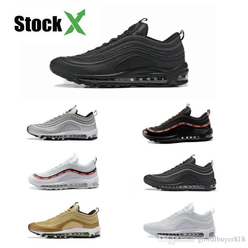 Nike air max 97 off white boost Yeezy Puma Asics Afshor Binle basketball slipper designer men shoes sandel triple Gold Silver Bullet Herren Trainer