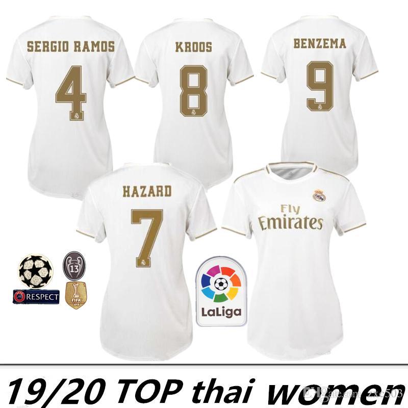 Bale Risque 11 2019 Real Chemises Femmes Football Maillots 1920 Pour Accueil7 De Personnalisés Madrid n0kP8wXO
