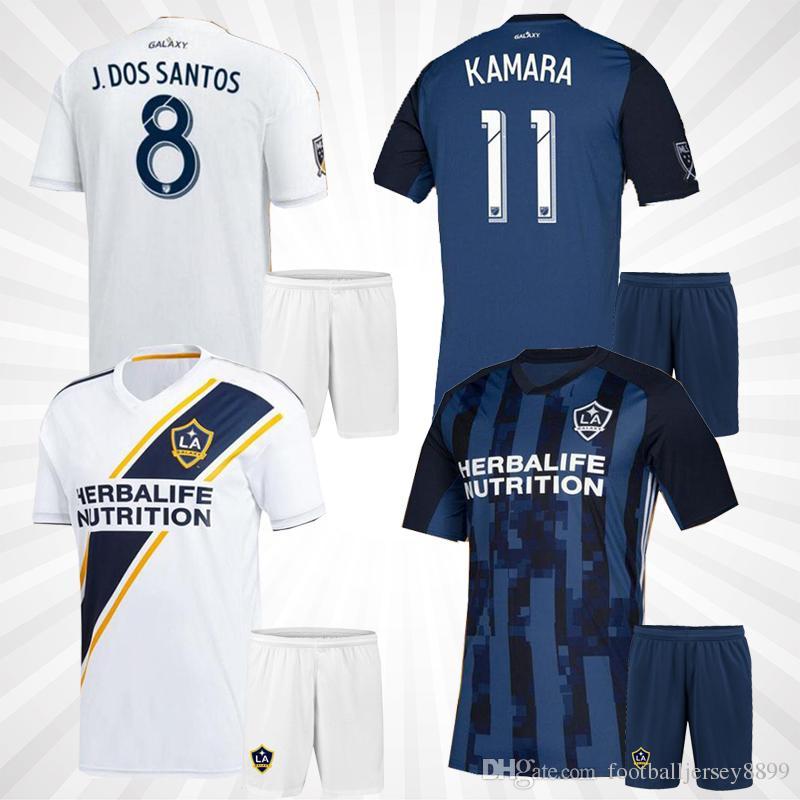 the latest ee46c f22fb LA Galaxy kids kit Soccer jersey 19 20 Los Angeles home away Camisa  Ibrahimovic ALESSNDRINI J.DOS SANTOS child kit football shirt uniforms