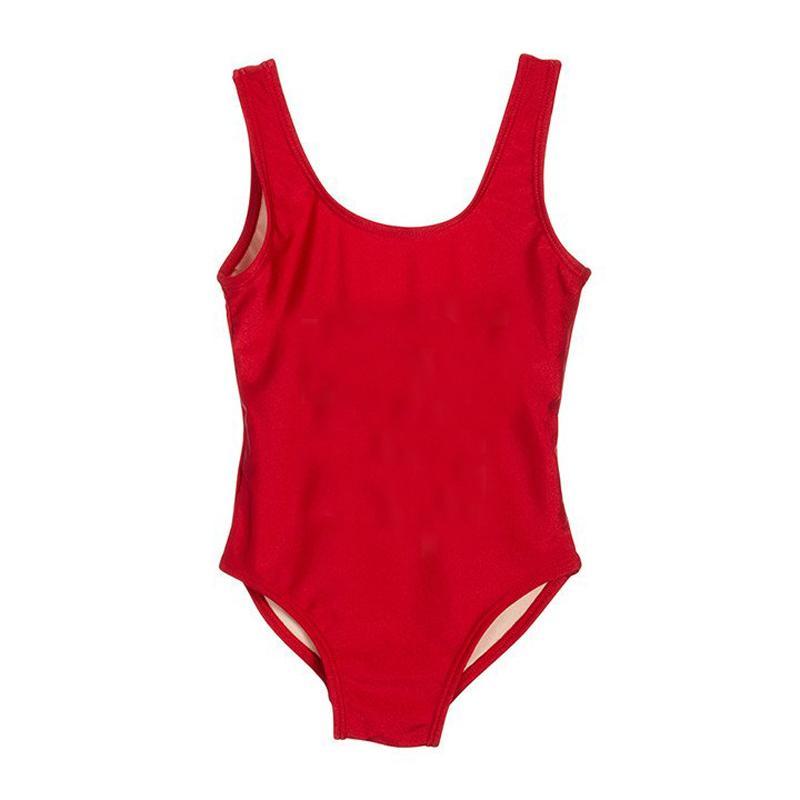 Sevimli Kız Mayo Tek Parça Mayo Siyah Kırmızı Pembe Çocuklar Beachwear Yaz Mayo Çocuk Swim Suit mayo badpak 2019