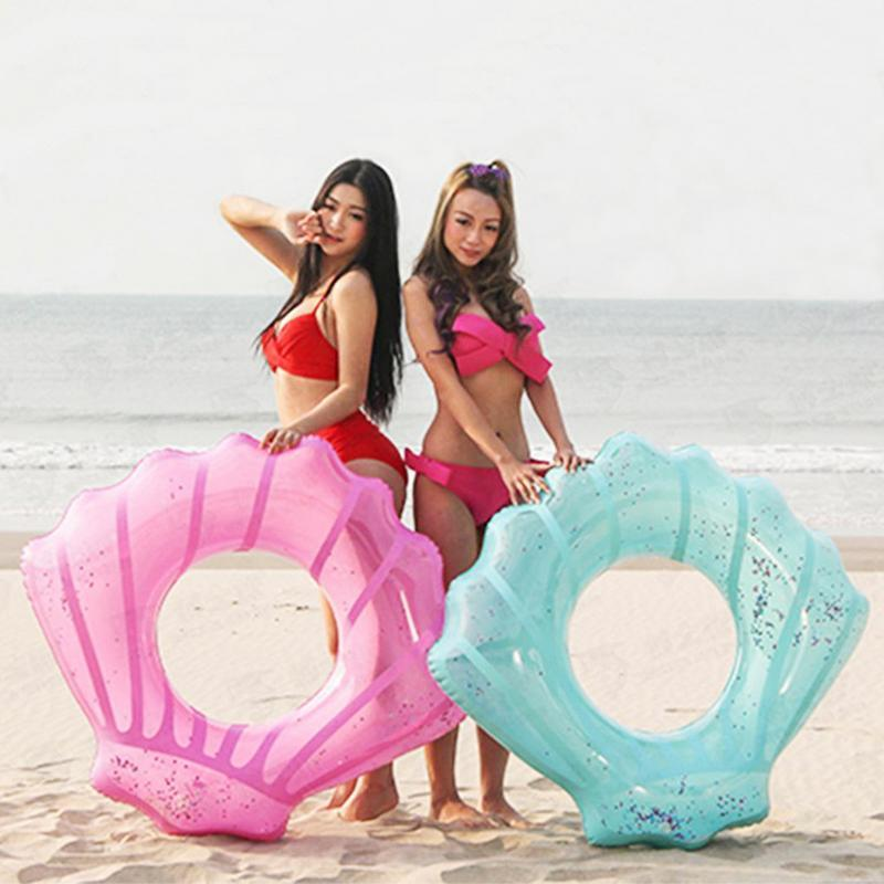 e4347030a11dda 80/90/110 Size Sequins Swim Ring Adult Inflatable Swimming Circle ...
