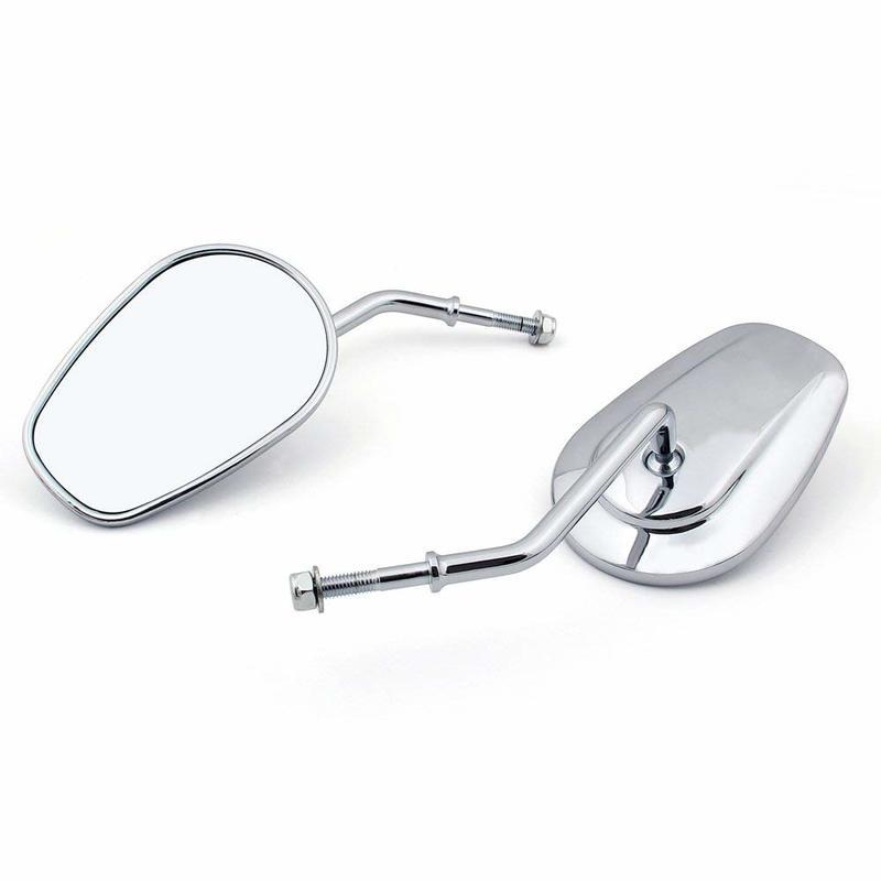 Motorcycle Rearview Mirrors Long Stem For Harley VRSC Touring Sportster  Softail Dyna FXR side mirrors