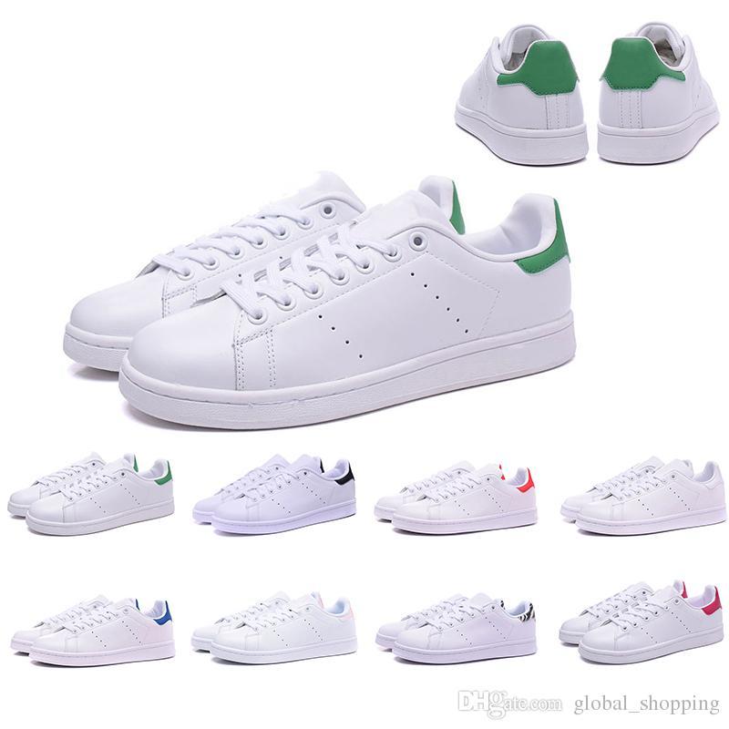 super popular 222ff b5376 Acquista Stan Smith Scarpe Nuove Designer Smith Originals Scarpe Casual Donna  Da Uomo Sneaker Sportivo Stan Scarpe Da Ginnastica Nero Bianco Rosso Verde  ...