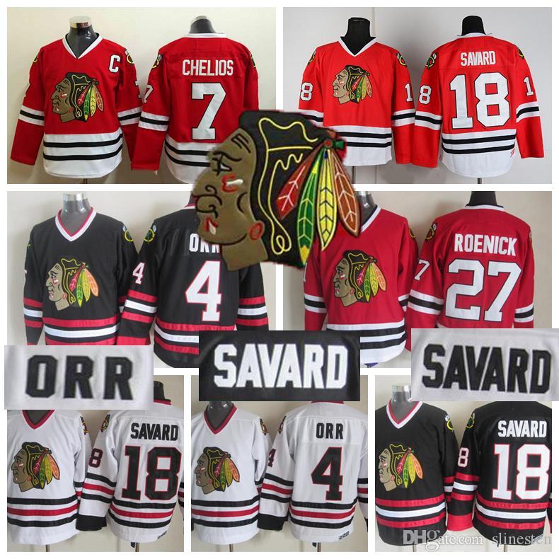 a3d71a89d8d Vintage Chicago Blackhawks Hockey Jerseys 27 Jeremy Roenick 18 Denis ...