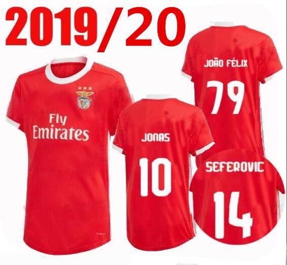 best service 42c35 fa6a6 19 20 Benfica soccer jerseys HOME AWAY 2019 2020 JOAO FELIX RAFA Pizzi  Salvio SEFEROVIC JONAS Raul Jimenez GRIMALDO FOOTBALL SHIRTS