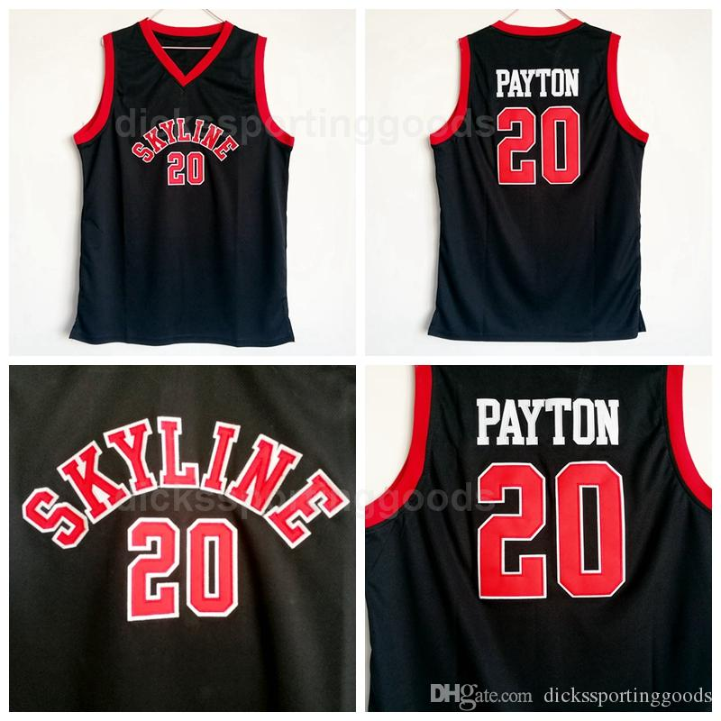new product fb3f6 4381b NCAA College Skyline Basketball 20 Gary Payton Jersey Men Sale Team Black  High School University For Sport Fans Top Quality On Sale