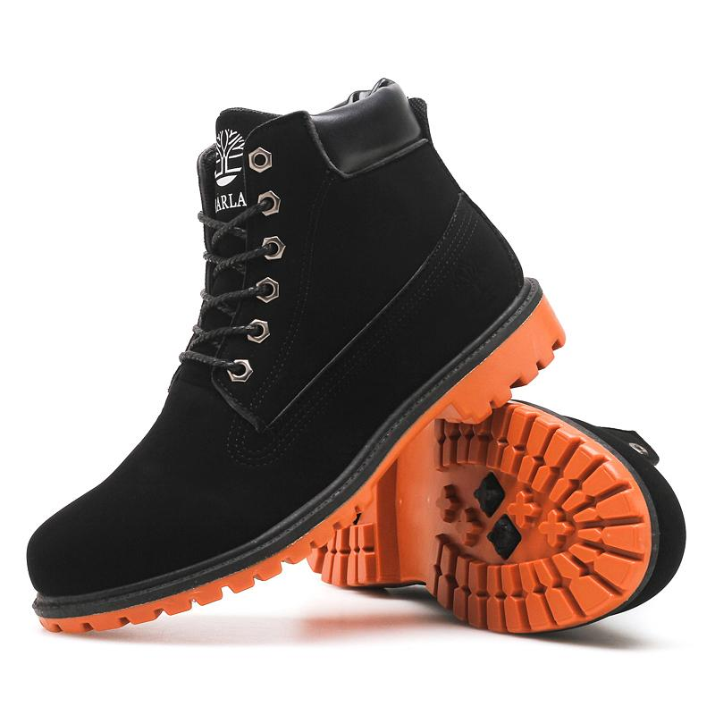 6806d83cc011 Fashion Ankle Boots Men's 2019 New High Top Work Shoes Brand Outdoor Thick  Bottom Non-slip Martin Boots Rubber Motorcycle