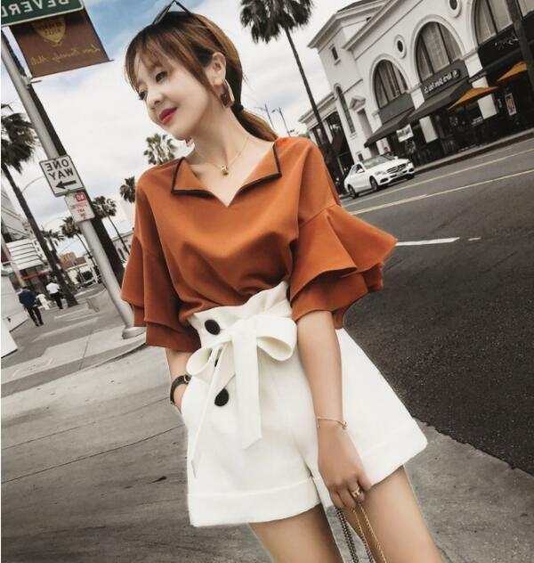 b33f403ab Nueva ropa de verano Temperamento de moda Dos trajes de vestir Falda corta  de talla grande para mujer que se vea más delgada
