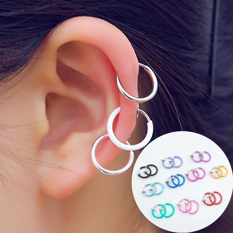 Hot Sale Multicolors Women Men Fake Lips Ear Nose piercing Unique Exquisite Ear Clip Earrings