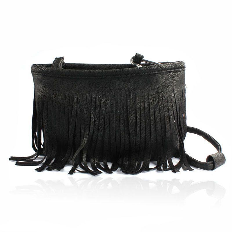 3bd740a7ec Cheap Fashion 2019 So Fresh And Unique Hot Tassel Shoulder Messenger Clutch  Baguette Handbag Women Satchel Malas De Mulher Leather Backpack Clutch Bags  From ...