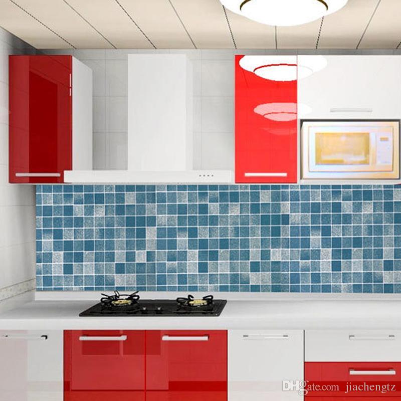 diy 5m pvc wall sticker bathroom waterproof self adhesive wallpaper