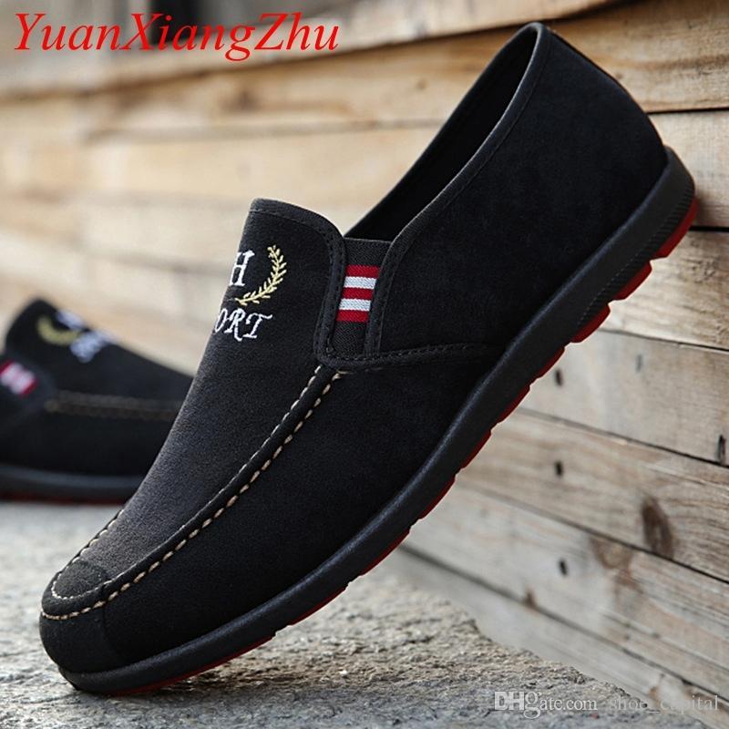 027ef4cf95 Compre 2019 Sapatos De Couro De Camurça Homens Mocassim Mocassim Homens  Sapatos Casuais Apartamentos De Verão Italiano Sapato Masculino Zapatillas  Hombre ...