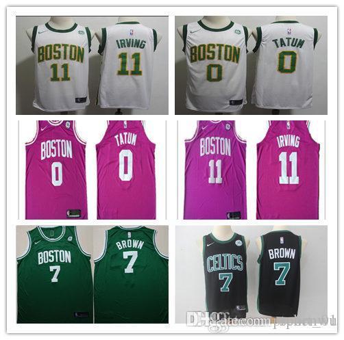 new product e98ea d369a 2019 new Boston CEL 0 Jayson Tatum 7 Jaylen Brown 11 Kyrie Irving 20 Gordon  Hayward man basketball jerseys