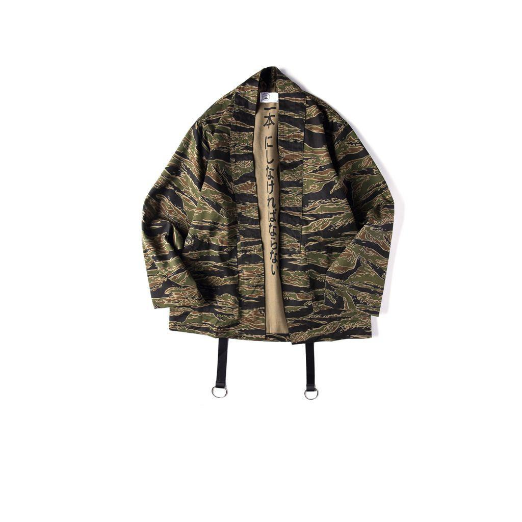 5f17ed3c8 Japanese Camo Kimono Jackets Japan Style Mens Hip Hop Camouflage Casual  Open Stitch Coats Fashion Streetwear Jacket Jackets Online Wool Jacket From  Duixinju ...