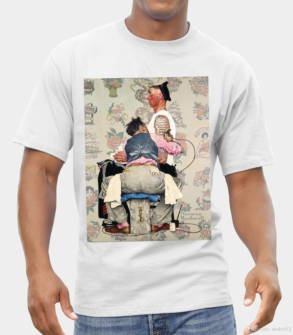 a1f2e5b85 ARTIST TATTOO NORMAN ROCKWELL LOGO T SHIRT NEW FRUIT OF THE LOOM PRINT BY  EPSON Personalised T Shirt Mens Tee Shirts From Jie48, $14.67| DHgate.Com