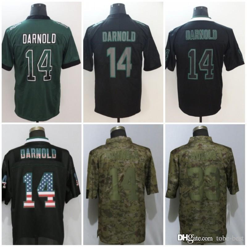2019 New York 14 Sam Darnold Jerseys 33 Jamal Adams Jets 2018 Salute To  Service USA Flag Impact Lights Out Black Rush Drift Camo Olive Limited From  Tobe ... a528462ad