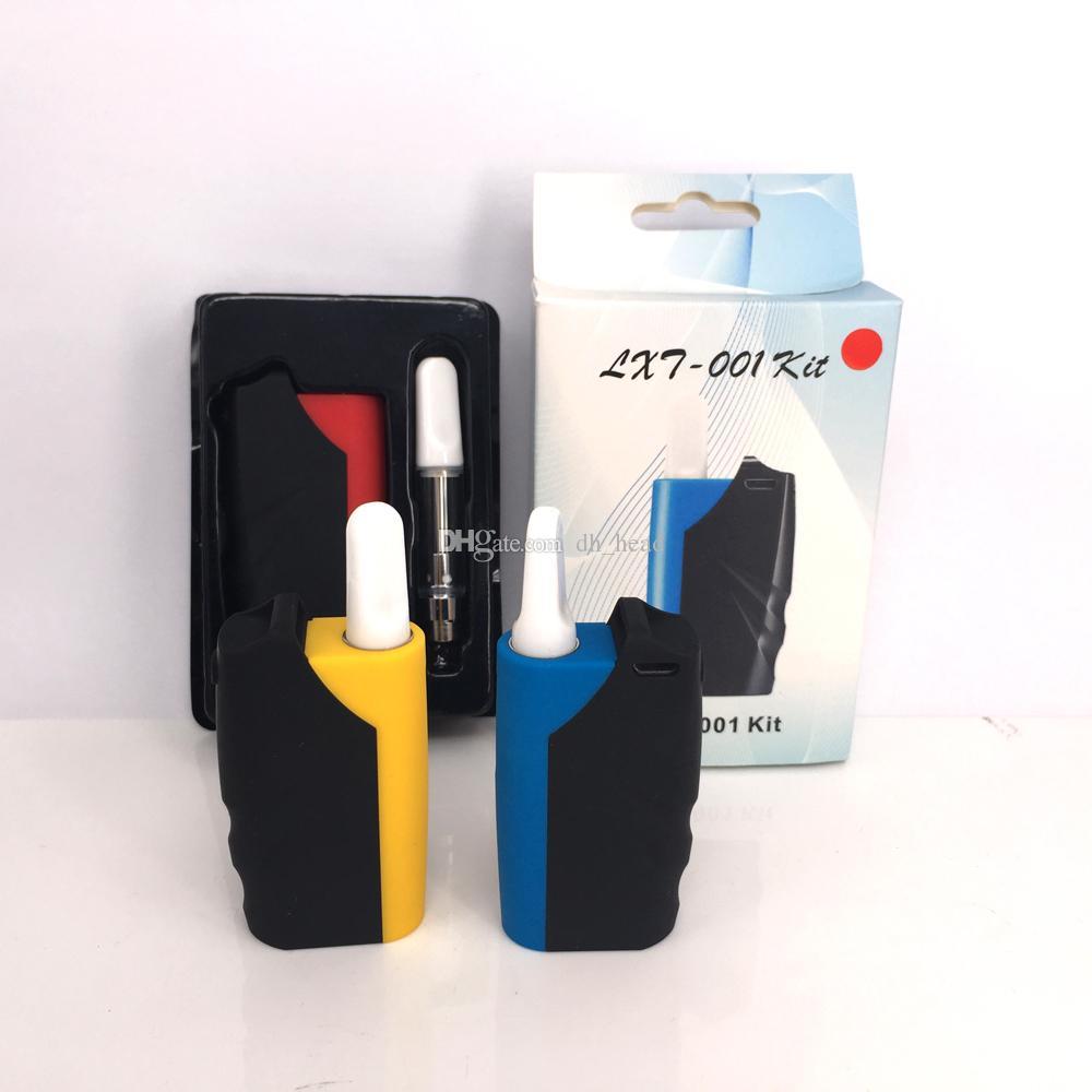 new arrival LXT-001 Thick Oil Cartridges starter Kit 650mAh Magnetic  preheat Box Mod 510 Thread TH2 Atomizer Vape Pen PK Imini mod