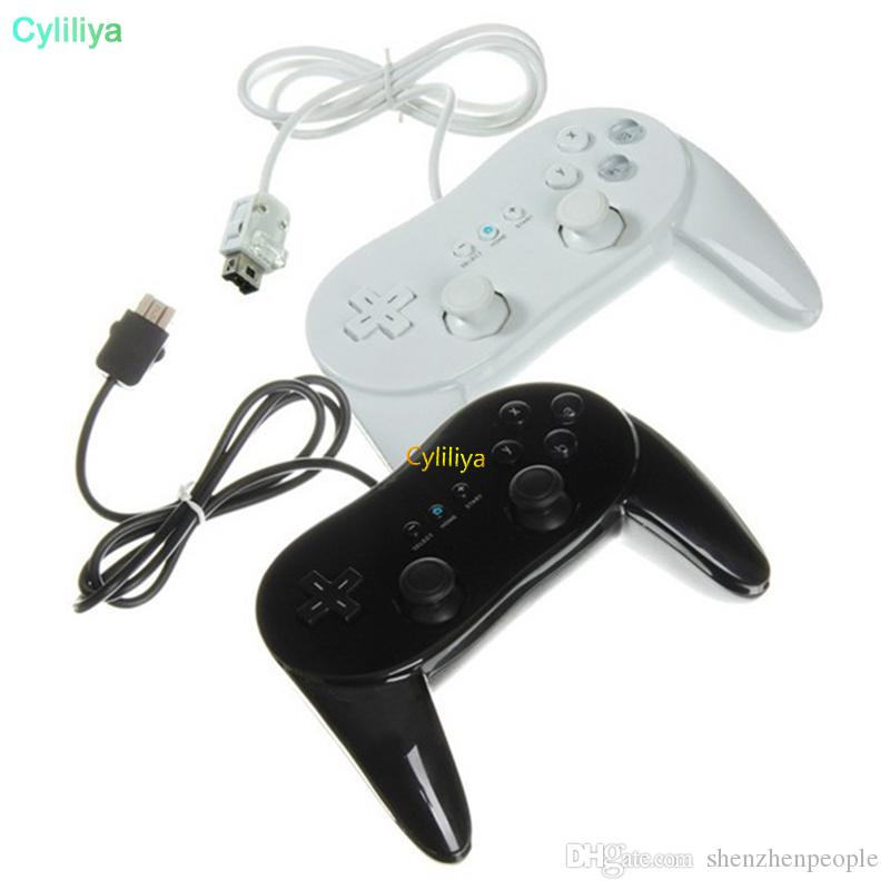 Classic Wired Horn Game Controller Gaming Remote Pro Gamepad Shock Joypad Joystick For Nintendo Wii Second-generation II 2nd WiiPro