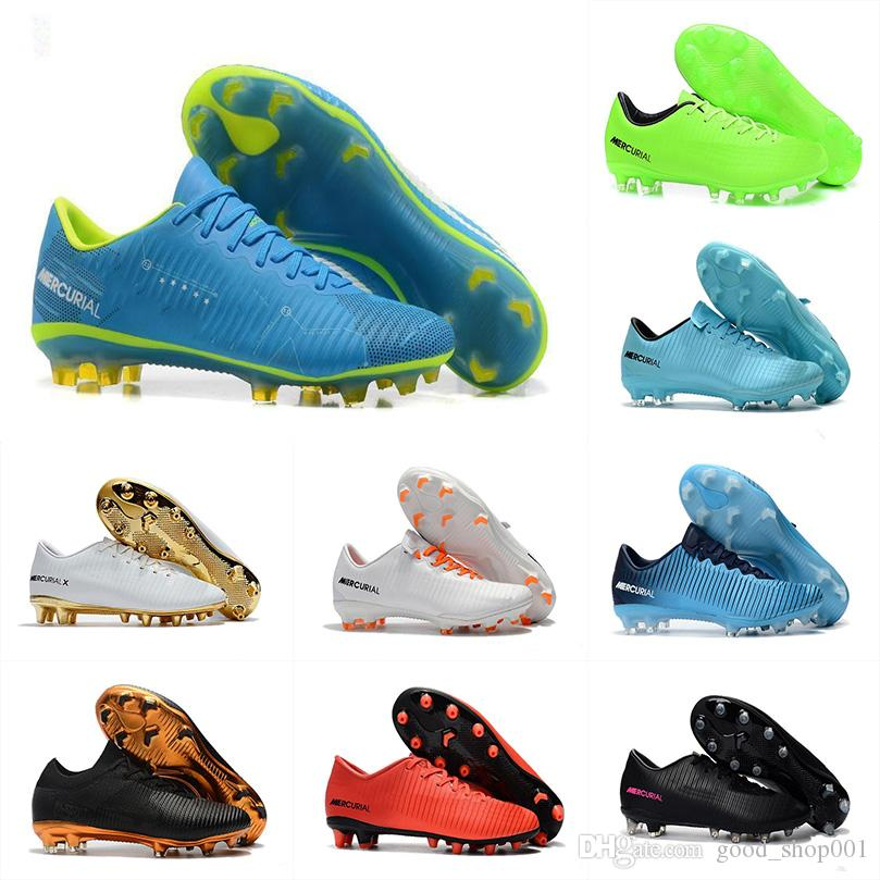 sale retailer 781e1 8be5b Mercurial Superfly CR7 Original Black Gold Soccer Cleats Soccer Shoes low  Ankle Cristiano Ronaldo Mens Football Boots EUR 40-46