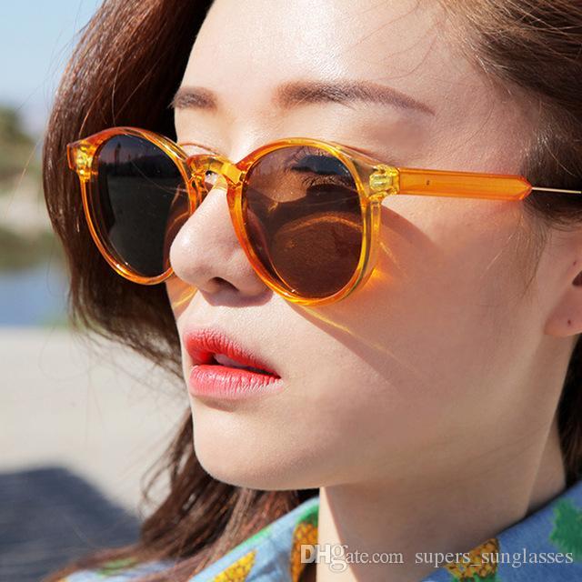 d8e1a52770 Retro Round Sunglasses Women Men Brand Design Transparent Female Sun ...