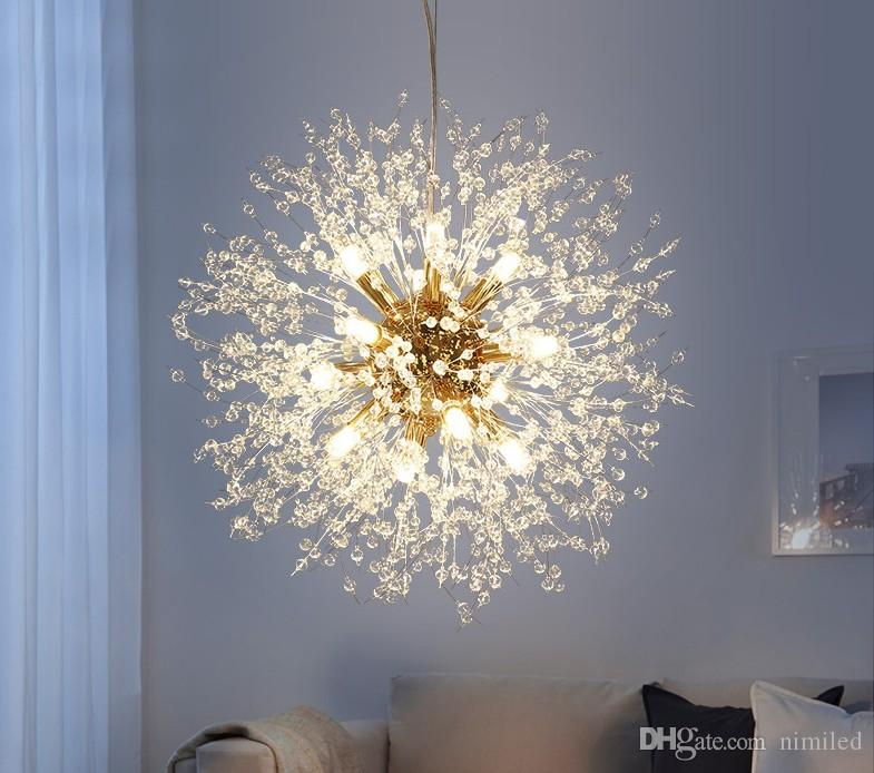 Modern Dandelion LED Ceiling Light Crystal Chandeliers Lighting Globe Ball  Pendant Lamp For Dining Room Bedroom Living Room Lighting Fixture Australia  2019 ...