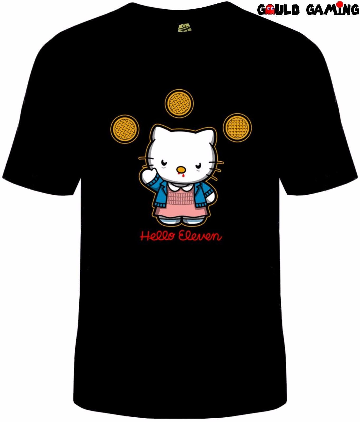 ce06f81f9 Stranger Things Hello Kitty T Shirt Unisex Cotton Adult Sizes Eleven Eggo  New Reasonable Wholesale T Shirt Top Tee Fun Shirt Designs For T Shirts  From ...