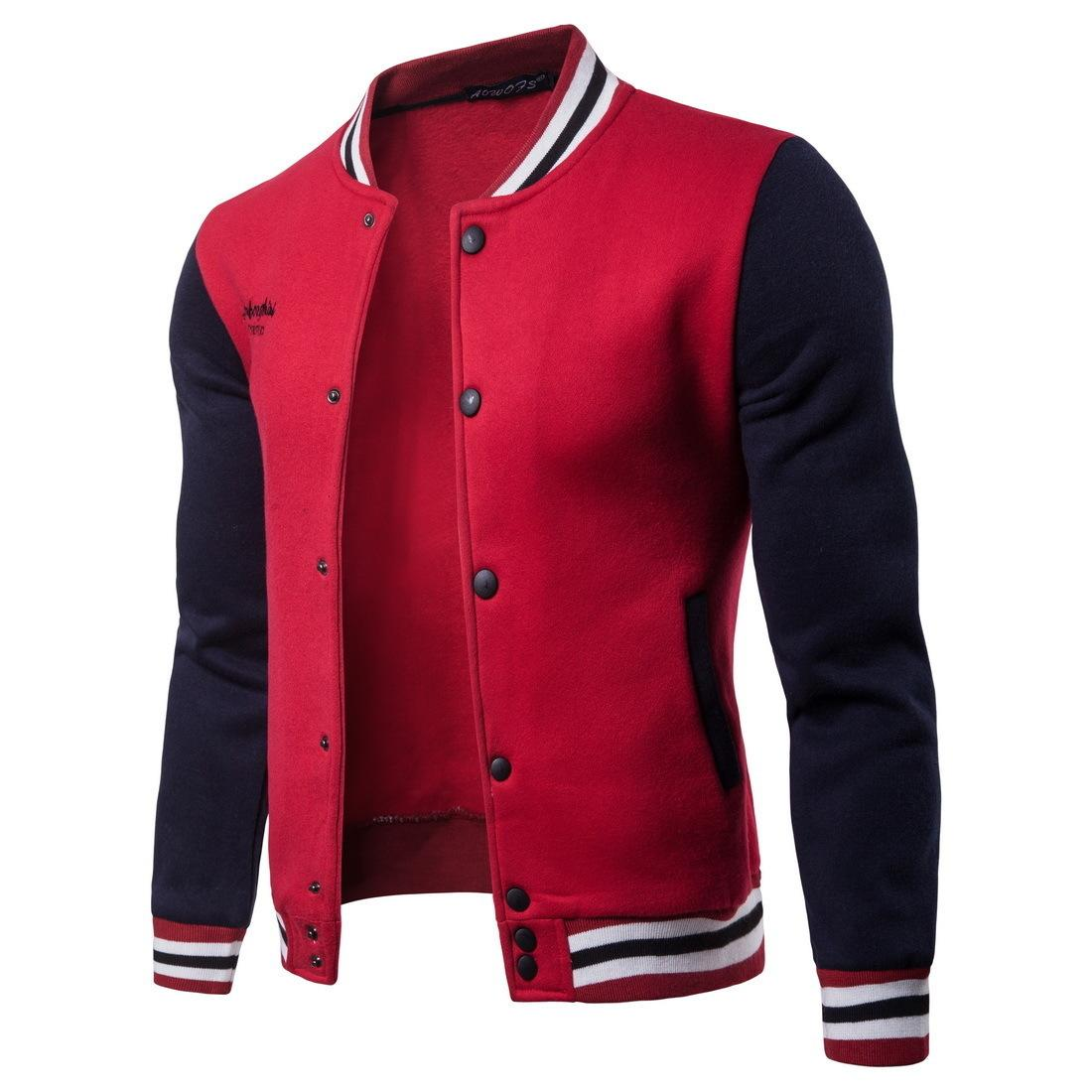 da551154 New Men Jacket Men 2019 Fashion Design Wine Red Mens Slim Fit College  Varsity Jacket Men Brand Stylish
