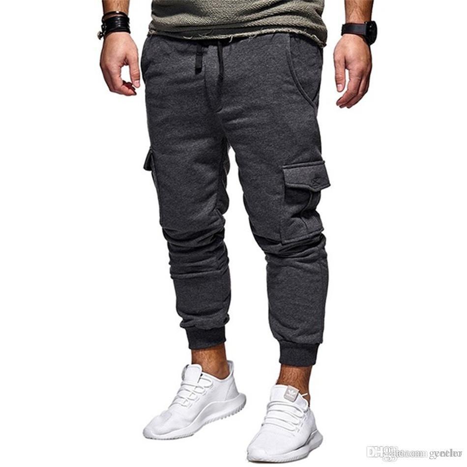 d534873c9c Acheter Pantalon Homme 2018 New Fashions Pantalon Jogging Homme Pantalon De  Survêtement Décontracté Bodybuilding Fitness Track