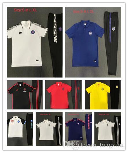 2d28879963296 19 New Real Madrid Soccer Survetement Psg Short Sleeves 3 4 Pants ...